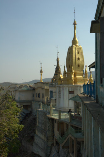 Side view, Mount Popa, Myanmar