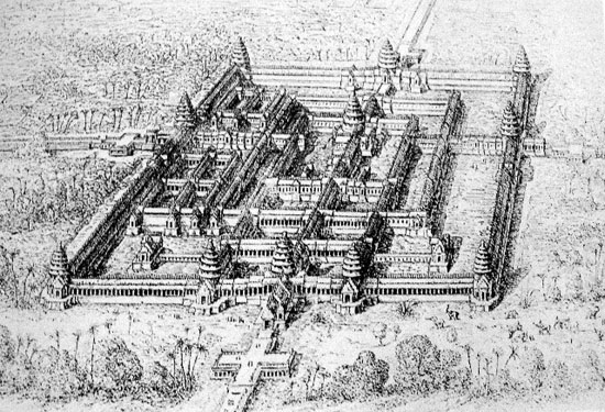 Beng Mealea Temple, as imagined by Louis Delaporte in 1860