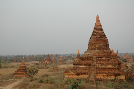 View of Temples From Schwesandaw Paya