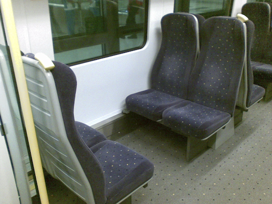 Bangkok Airport Express Train Seats