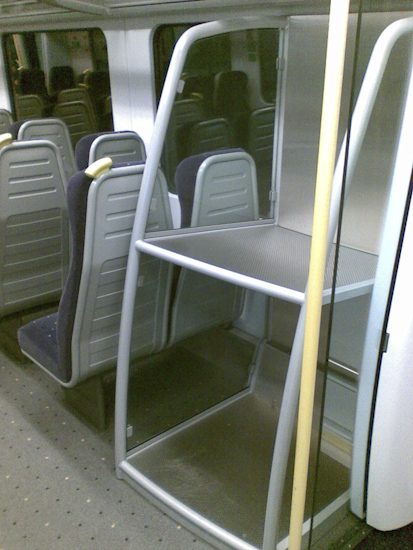 Bangkok Airport Express Train Luggage Racks