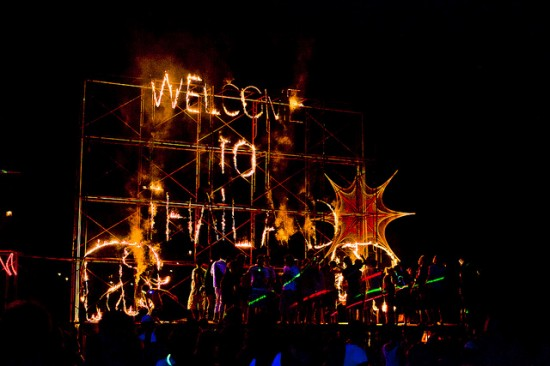 Welcome To Thailand Fireworks - Full Moon Party, Koh Phangan, Thailand © JoeStump