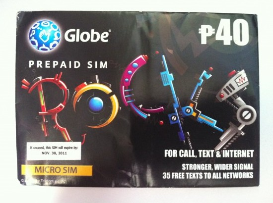 Philippines Micro Sim for iPhone 4