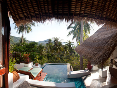 5 star hotels on koh tao for Koi pool villa koh tao