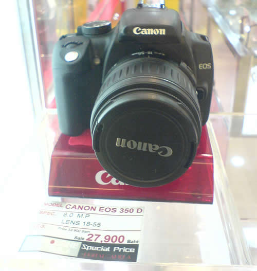 Canon EOS 350 D Digital Rebel XT digital SLR cameras in Thailand