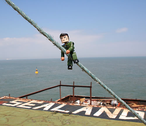 Self-portrait: Simon Sellars on Sealand. Photo by Simon Sellars, 2007.
