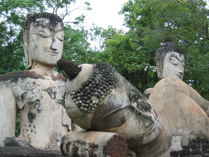 3 Buddhas At Wat Phra Kaeo, Kamphaeng Phet