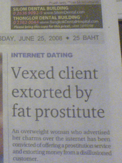 Vexed Client Extorted By Fat Prostitute