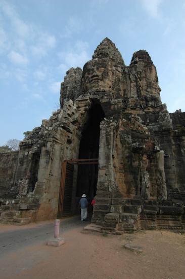 Entrance To Angkor Thom Fortress City