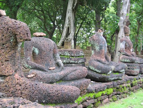Buddha Ruins at Khampaeng Phet, Sukhothai