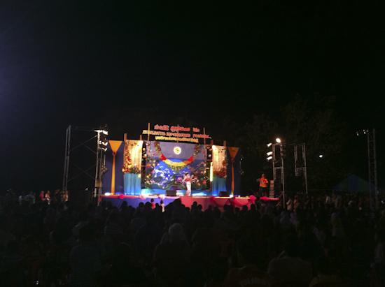 Loy Krathong Celebration Stage in Lanta Old Town