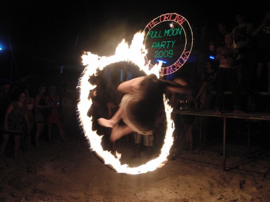 Fire Jumper Full Moon Party Koh Phangan Thailand © I Am A Genious