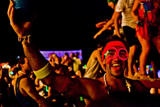 Partying At The Full Moon Party Koh Phangan Thailand © joestump