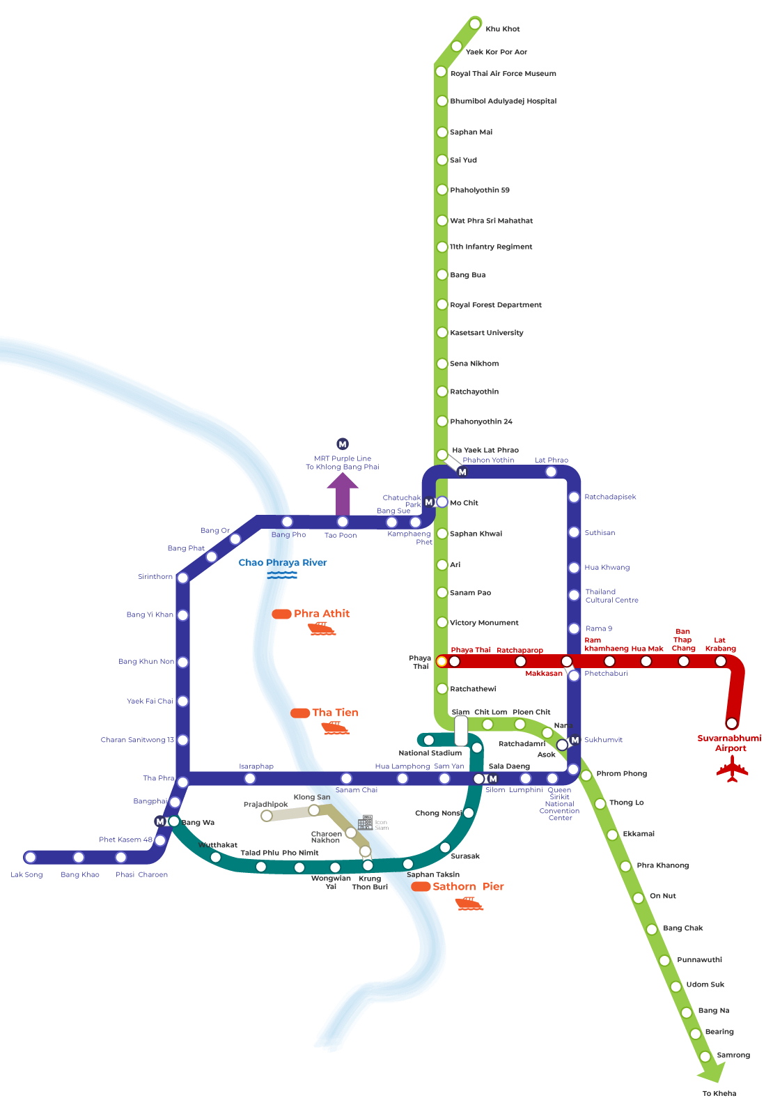 Bangkok BTS And MRT Map 2021