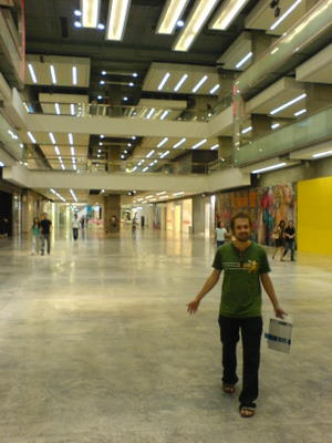 Chris inside the unfinished Central World Plaza